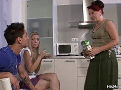 Rubia recibe una cogiendo señoras mayores polla negra dura